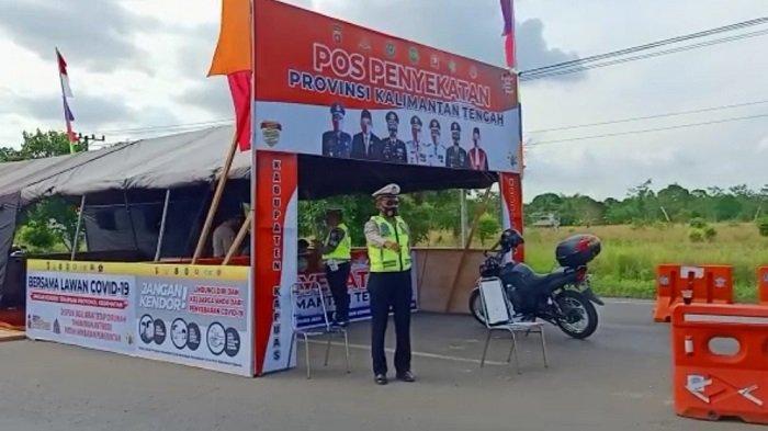 Pos Penyekatan di Kapuas Kalteng Diaktifkan,25 Kendaraan dari Kalsel Putar Balik