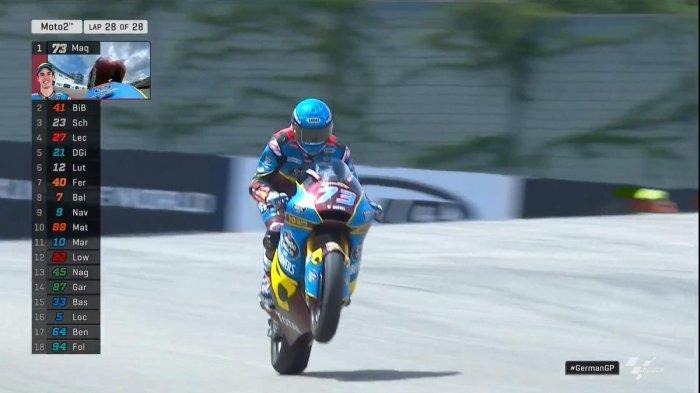 Hasil MotoGP Ceko 2019, Adik Marc Marquez Juara di kelas Moto2, Dimas Ekky Minta Maaf