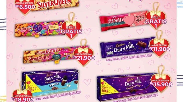 Alfamart menggelar promo cokelat spesial Valentine Day.