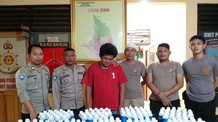 Berantas Minuman Keras Jelang Idul Fitri 1440 H, 250 Botol Alkohol Diamankan Polsek Tapin Utara