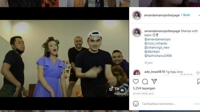Aksi joget Amanda Manopo di sela-sela syuting Ikatan Cinta (instagram/amandamanopofanpage)
