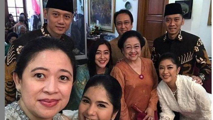 Momen Anak SBY, AHY & Ibas Silaturahmi ke Megawati Pakai Batik Hitam & Pesan Terakhir Ani Yudhoyono