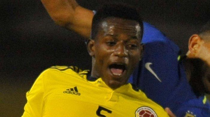 Anderson Arroyo saat breaksi membela Timnas Kolombia dalam Kejuaraan Sepak Bola Amerika Selatan U-20.