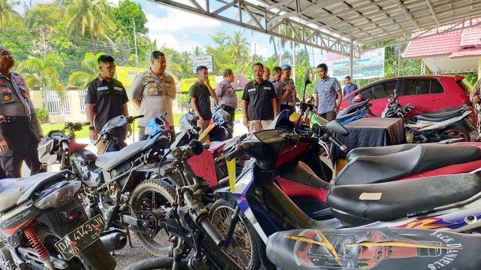 Kejar Tersangka Sampai ke Kute Bali, Polres HSS Sita Puluhan Ranmor