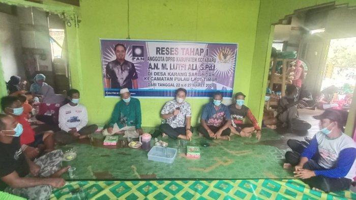 Anggota DPRD Kotabaru Fraksi PAN Reses ke 4 Desa, Lutfi: Demi Mewujudkan Keinginan Masyarakat