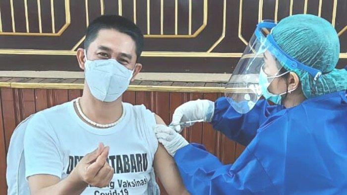 Meski Sudah Vaksinasi Tahap 2, Anggota DPRD Kotabaru Rabbiansyah Tetap Patuhi Prokes