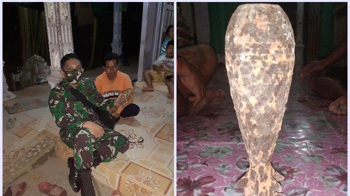 Mortir Masa Perang Muncul di Tumpukan Sirtu, Anggota Koramil Bungur Tapin Lakukan Ini