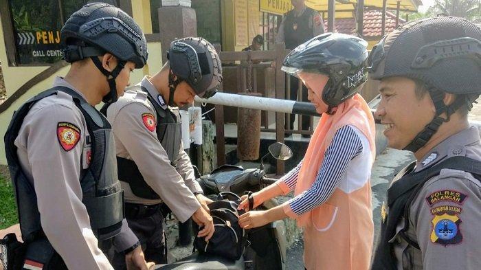 BREAKING NEWS: Pasca Bom di Polrestabes Medan, Polres Balangan Perketat Pemeriksaan Tamu yang Masuk
