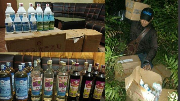 Polsek Kapuas Murung Tindak Penjual Miras, Ratusan Botol Alkohol Disembunyikan di Semak