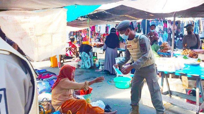 Pasar Paringin Kembali Jadi Sasaran Giat Patroli Penegakan Protokol Kesehatan