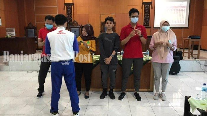 Tim Trio Motor Kunjungi PTUN Banjarmasin, Populerkan Tagar #Cari_Aman