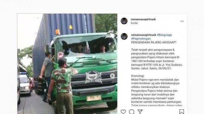 Viral di Media Sosial : Pengemudi SUV Lakukan Pengrusakan Kaca Depan Truk, Sopir Alami Luka Ringan