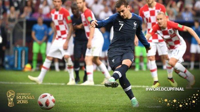 Prancis Juara Piala Dunia 2018! Antoine Griezmann Sejajar dengan Zinedine Zidane