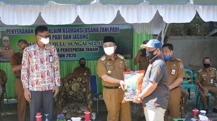 Pemkab HSS Bantu Benih dan Pupuk untuk Petani di Kabupaten HSS, Ini Pesan Bupati HSS