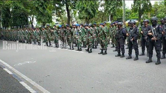 Aparat Keamanan Palangkaraya Gelar Apel Gabungan Pengamanan Tahun Baru