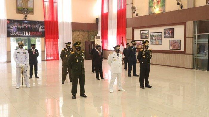 Berlangsung Virtual, Begini Upacara Peringatan HUT ke-75 TNI di Korem 102 Panju Panjung Kalteng