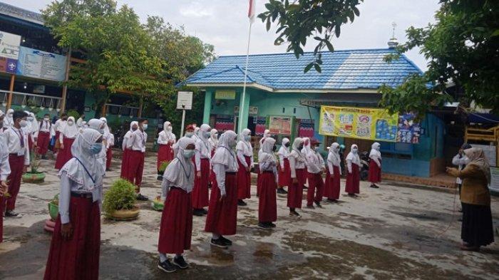 Hari Pertama Ujian Sekolah Tatap Muka, SDN Mawar 2 Banjarmasin Bentuk Satgas di Sekolah