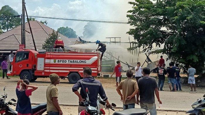 Geger di Mabuun Tabalong, Warung dan Satu Motor Hangus Terbakar