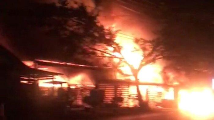 Kebakaran Kalsel, Warga Geger Api Mengamuk di Sungaitaib Kotabaru