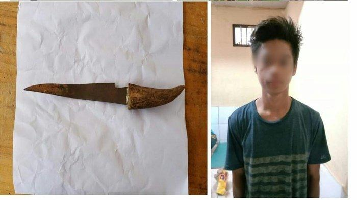 Pria Ini Tusuk Warga Mangkauk karena Ditegur Pakai Knalpot Nyaring, Ditangkap Nongkrong di Warung