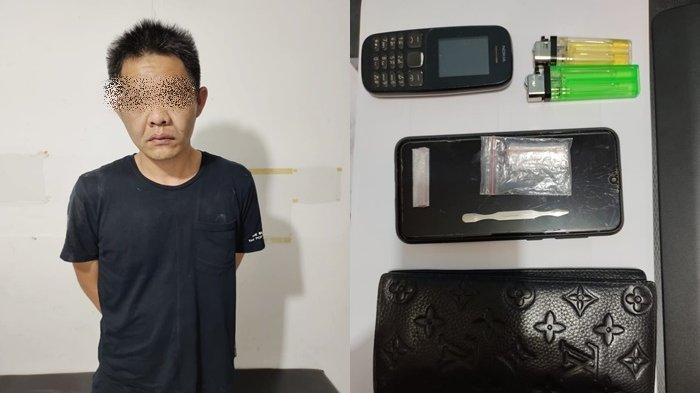 Diduga Pengaruh Sabu, Pria Tabalong Parkir Yaris di Tengah Jalan Golf Banjarbaru, Simpan 2 Paket