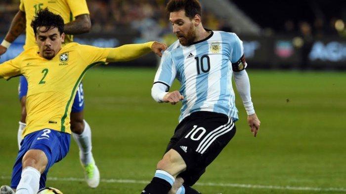 Link MolaTV! Live Streaming Brasil vs Argentina di Brazil Global Tour 2019, Lionel Messi vs Neymar