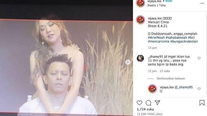 Aksi Sentuhan Mesra BCL di Video Ariel NOAH, Tatapan Ayah Alleia di Nyanyian Mencari Cinta Disorot