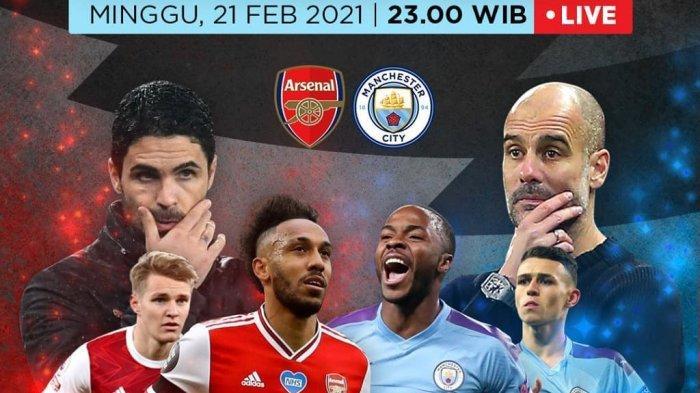 Arsenal vs Manchester City Liga Inggris Live Net TV, Pujian Arteta untuk Skuat Pep Guardiola