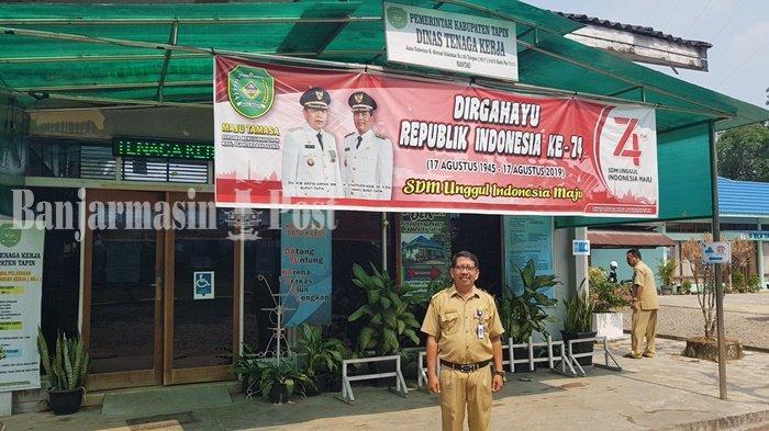 Kantor Dinas Tenaga Kerja Kabupaten Tapin, Arsono Sekretaris Disnaker Tapin