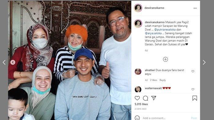 Lihat Tulisan di Kaos Arya Saloka, Fakta Suami Putri Anne Lainnya Saat Di Warung Rano Karno