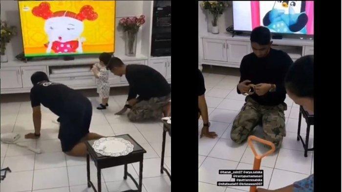 Video Aksi Trik Arya Saloka Membersihkan Lantai Dari Pecahan Kaca, Suami Putri Anne Tuai Pujian