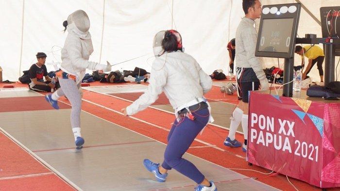 PON Papua 2021, Tim Anggar Kalsel Latih Tanding dengan Atlet Tuan Rumah