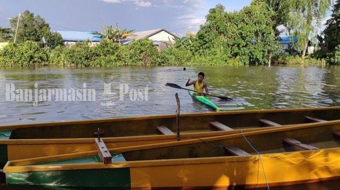 Atlet Dayung Banjarmasin Genjot Latihan di Sungai Awang Setiap Hari