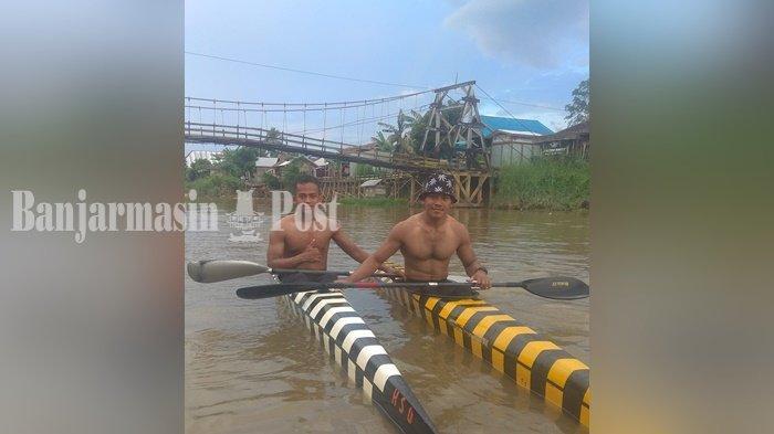Atlet Dayung Kabupaten HSU Aktif Latihan Setiap Hari di Sungai Negara