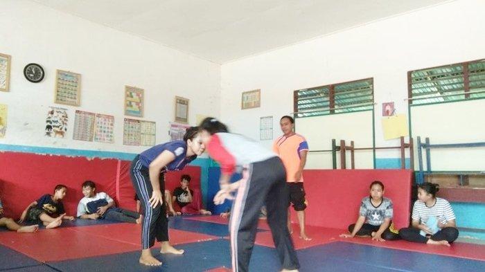 Tim Gulat Kotabaru Tingkatkan Intensitas Latihan Jelang Popda Kalsel 2021