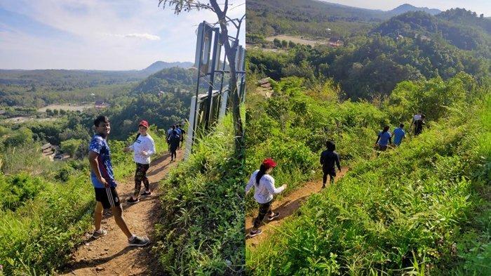 TC ke Kiram Park, Roxana Cs Semangat Lari Telusuri Bukit Bersama Tim Gulat Kalsel
