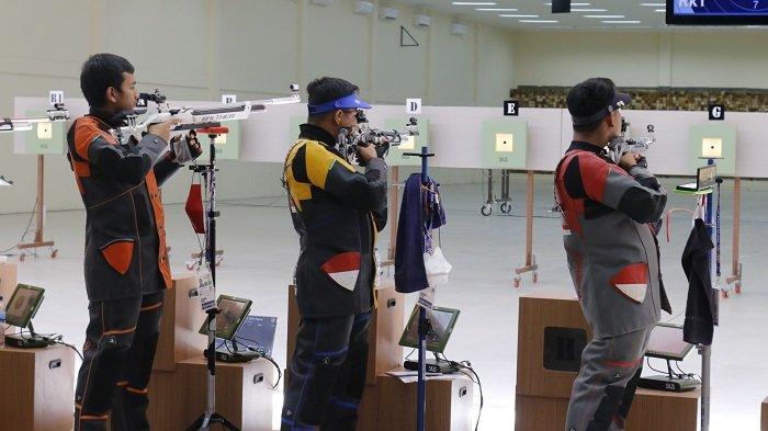 PON XX Papua 2021 - Atlet Menembak Kalsel Raih Perunggu di Nomor 10 Meter Air Rifle Putra