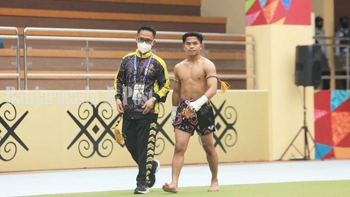 Atlet Muay Thai Kalsel Abdul Rozak Pastikan Raih Medali PON Papua 2021 di Nomor Wai Kru