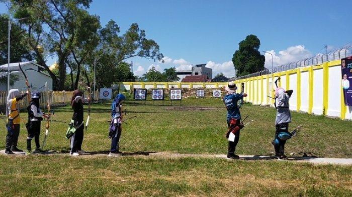 Cari Pemanah Terbaik untuk Popda Kalsel 2021, Binpres Panahan Banjarmasin Seleksi Atlet Muda