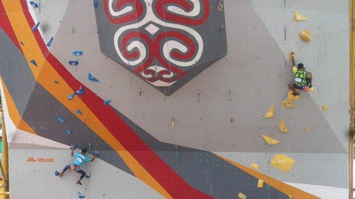 Tim Panjat Tebing Kalsel Loloskan Satu Wakil ke Babak Semifinal Kategori Boulder PON XX Papua