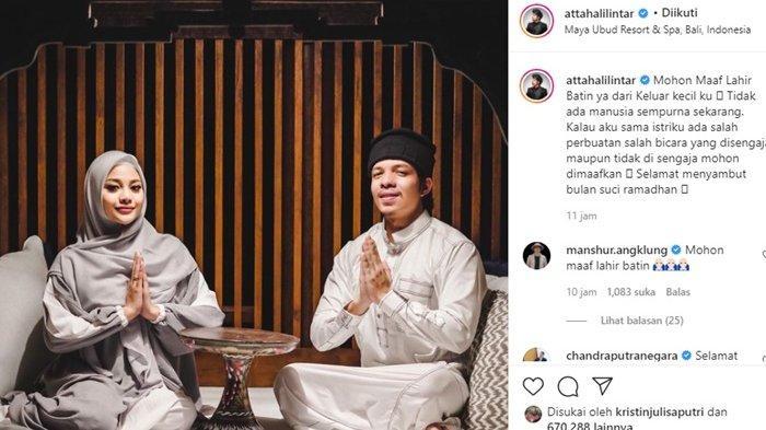 Atta Halilintar Pamit, Bersama Aurel Hermansyah Janji Kurangi ini Selama Ramadan 1442 H