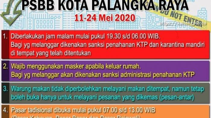 Palangkaraya Terapkan PSBB Mulai Hari ini, Wali Kota Siapkan Sanksi bagi Pelanggar Aturan