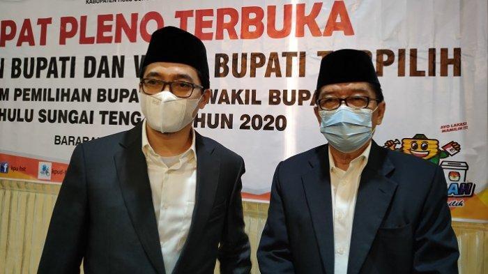 Resmi, Aulia-Mansyah Ditetapkan Bupati dan Wakil Bupati HST Terpilih Pilkada HST 2020