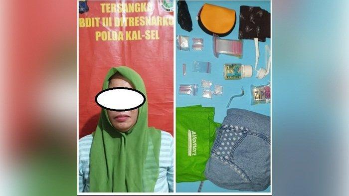 Simpan 10 Paket Sabu, Perempuan Warga Jalan Golf Banjarbaru Ini Ini Ditahan Polisi