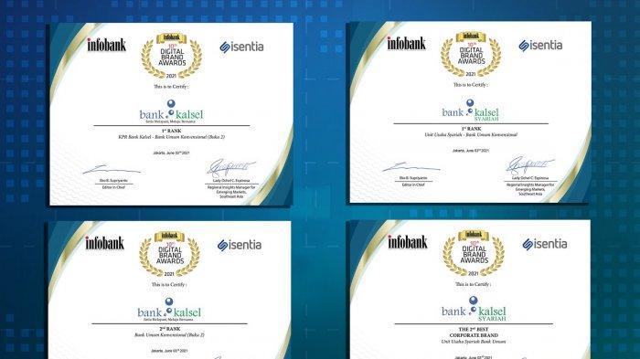 anugerah 4 penghargaan sekaligus kepada Bank Kalsel
