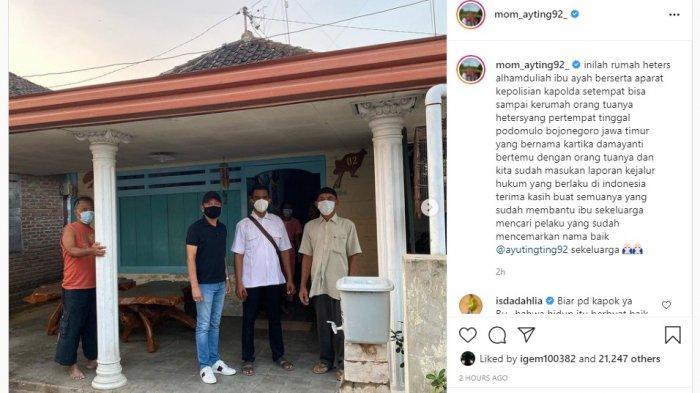 Umi Kalsum dan Abdul Rozak mendatangi rumah pelaku yang diduga haters Ayu Ting Ting