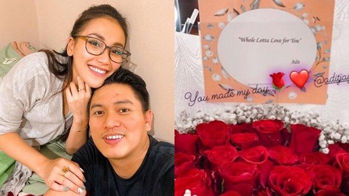 Ayu Ting Ting Pamer Bunga Pemberian Adit Jayusman, Isi Surat Cinta untuk Ibu Bilqis Disorot