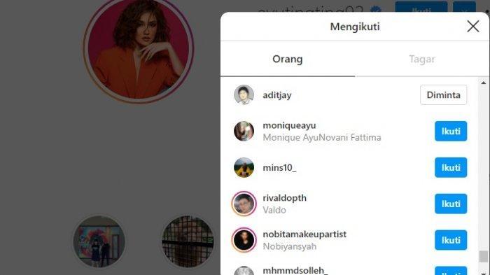 Ayu Ting Ting masih follow Adit Jayusman