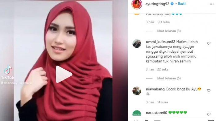 Sinyal Ayu Ting Ting Mau Berhijab, Voting Putri Abdul Rozak dan Umi Kalsum di IG Picu Reaksi
