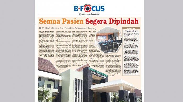 Banyak Kendala di Bangunan Lama RSUD Baddaruddin Tanjung, ini yang Paling Sering Dikeluhkan